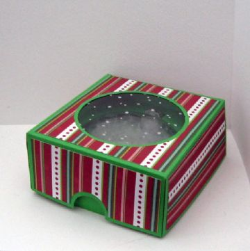 4 inch Flat Bauble Box Template